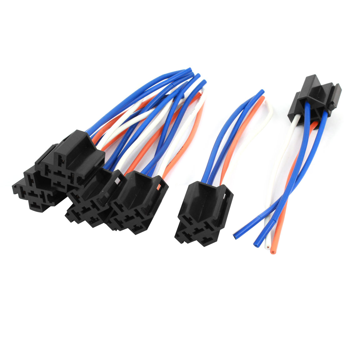 Auto Car Alarm Relay Harness Wire Cable 4 Pin Wire Socket Connector 6 Pcs