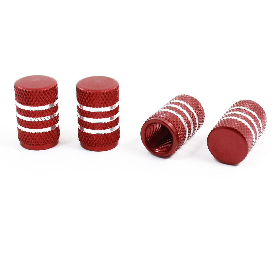 Motorcycle Bike Car Alloy Tire Tyre Wheel Valve Stem Dust Caps Cover Red 4 Pcs