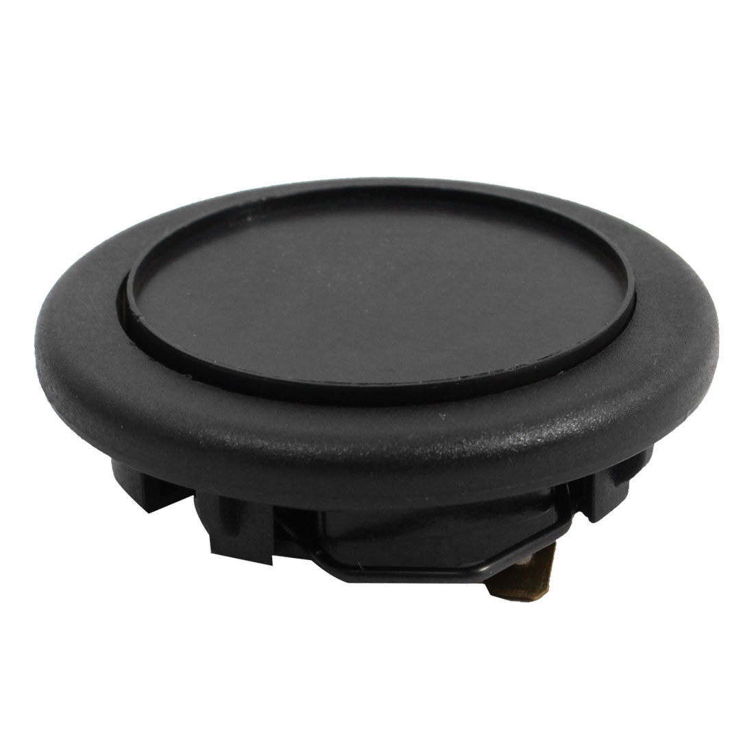"Black Plastic 2.4"" Dia Universal Car Steering Wheels Horn Button Spare Part"
