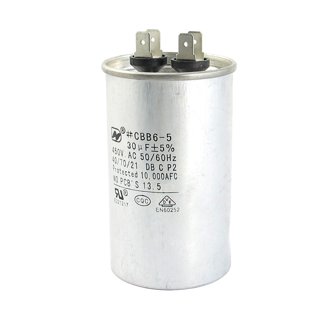 CBB65 AC 450V 30uF 5% 50/60Hz Non Polar Polypropylene Film Motor Capacitor for Air Conditioner