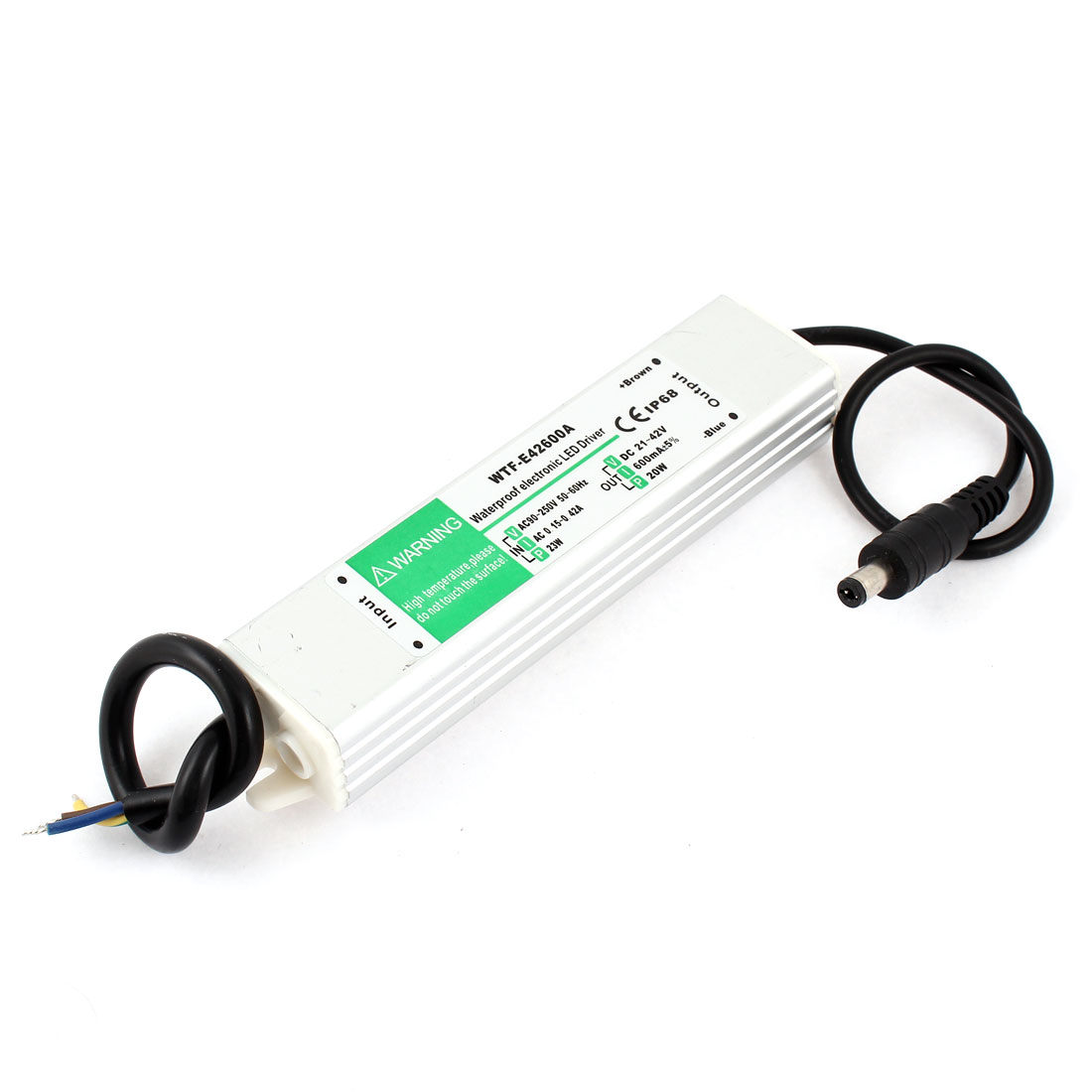 DC 21-42V 20W DC Connector Waterproof LED Driver Transformer Power Supply