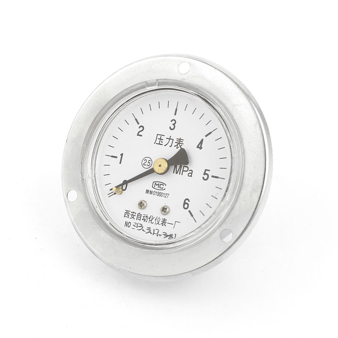0-6MPa Vertical Mechanical Glow Oil Gas Air Vacuum Pressure Meter Gauge 60mm