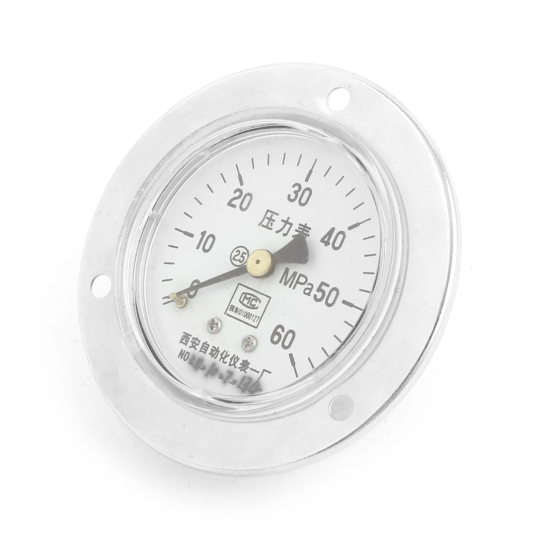 0-60MPa Vertical Universal Glow Oil Gas Air Vacuum Pressure Meter Gauge 60mm
