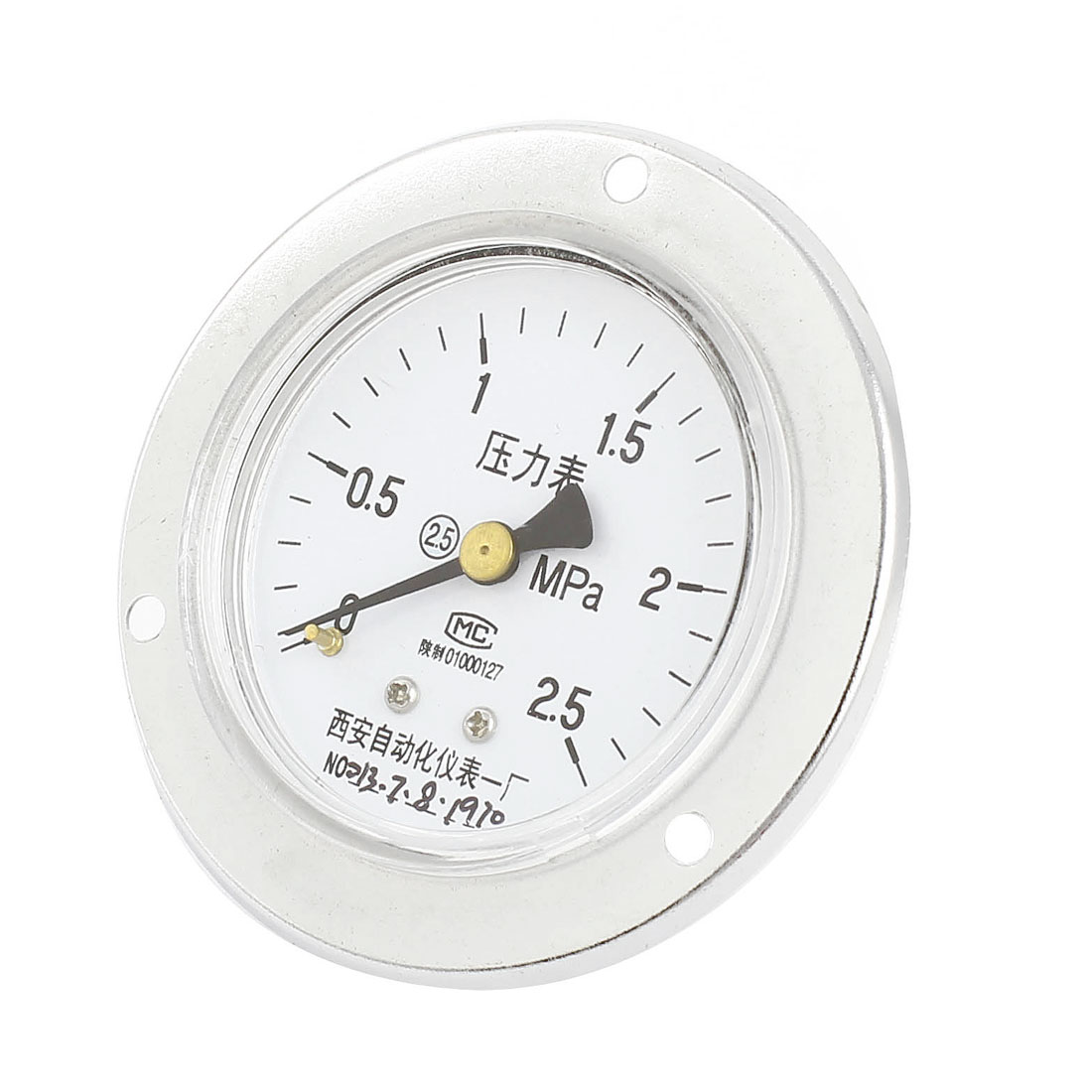 0-2.5MPa Universal Mechanical Glow Oil Gas Air Vacuum Pressure Meter Gauge 60mm