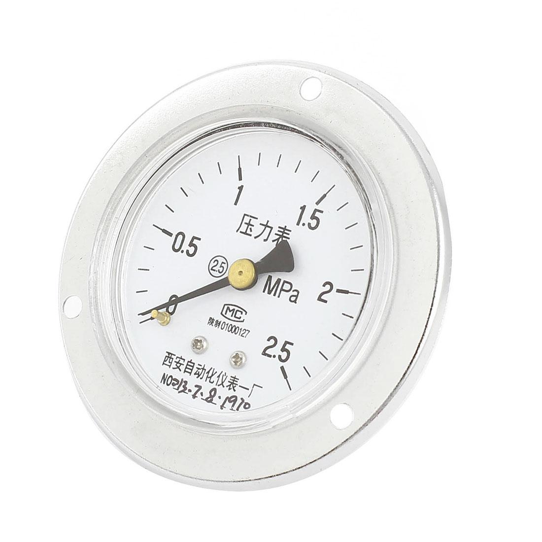 0-2.5MPa Universal Mechanical Glow Oil Gas Air Vacuum Pressure Meter Gauge 60mm