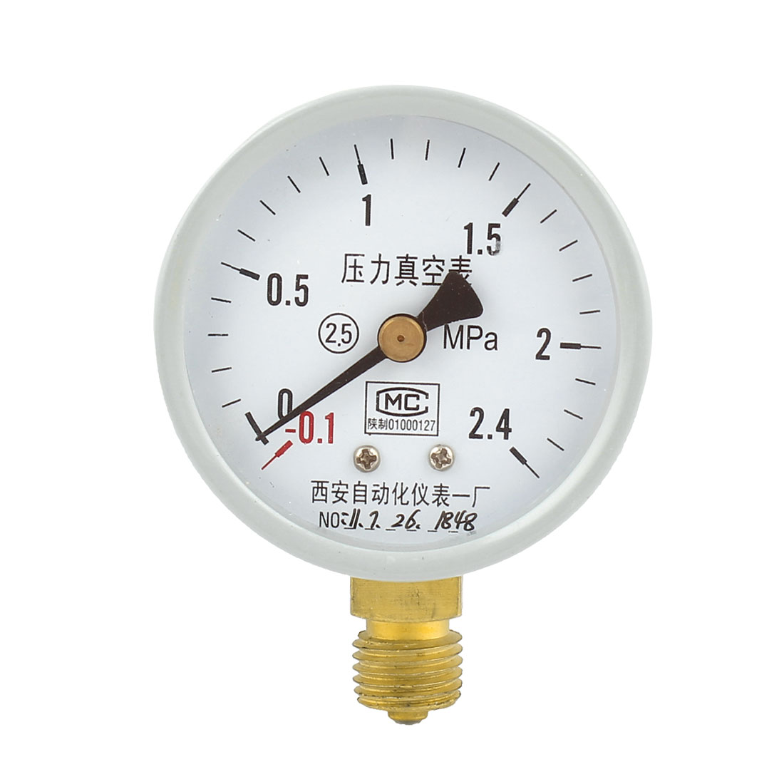 Round Dial Air Pneumatic Vacuum Pressure Meter Gauge -0.1MPa to 2.4MPa 60mm