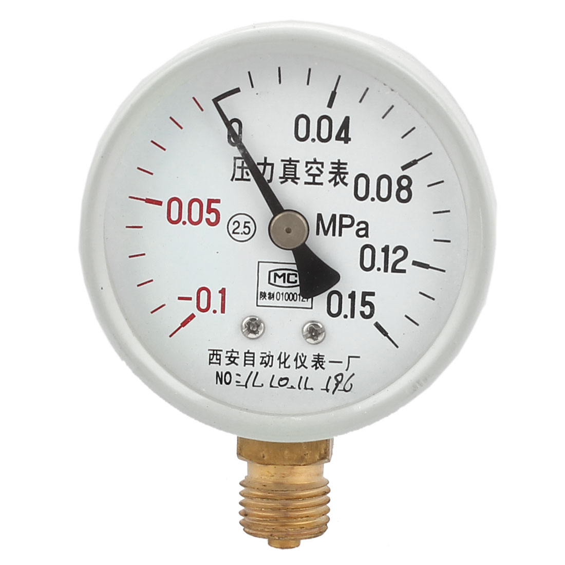 Round Dial Air Pneumatic Vacuum Pressure Meter Gauge -0.1MPa to -0.15MPa 60mm
