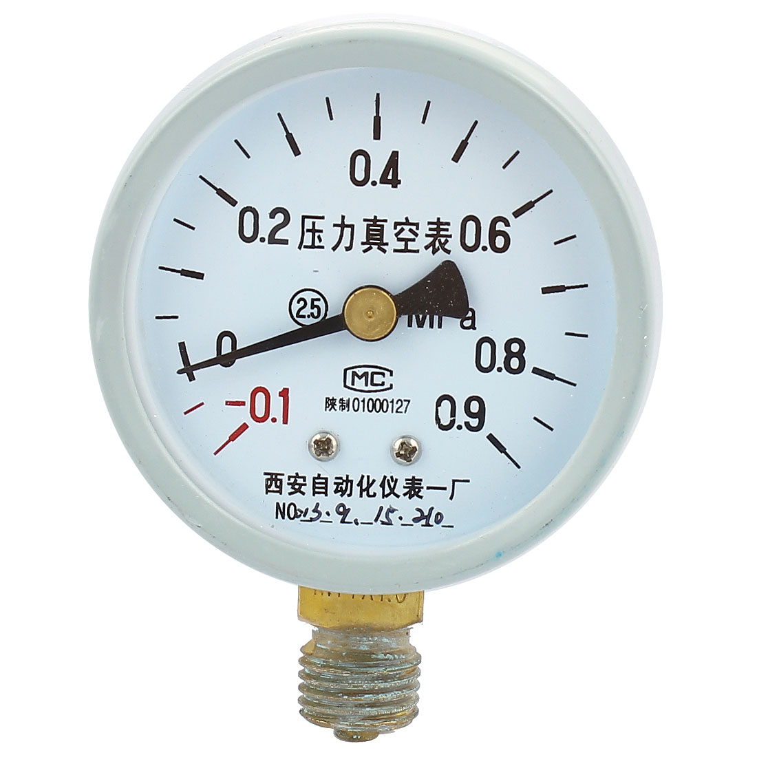 Round Dial Air Pneumatic Vacuum Pressure Meter Gauge -0.1MPa to 0.9MPa 60mm