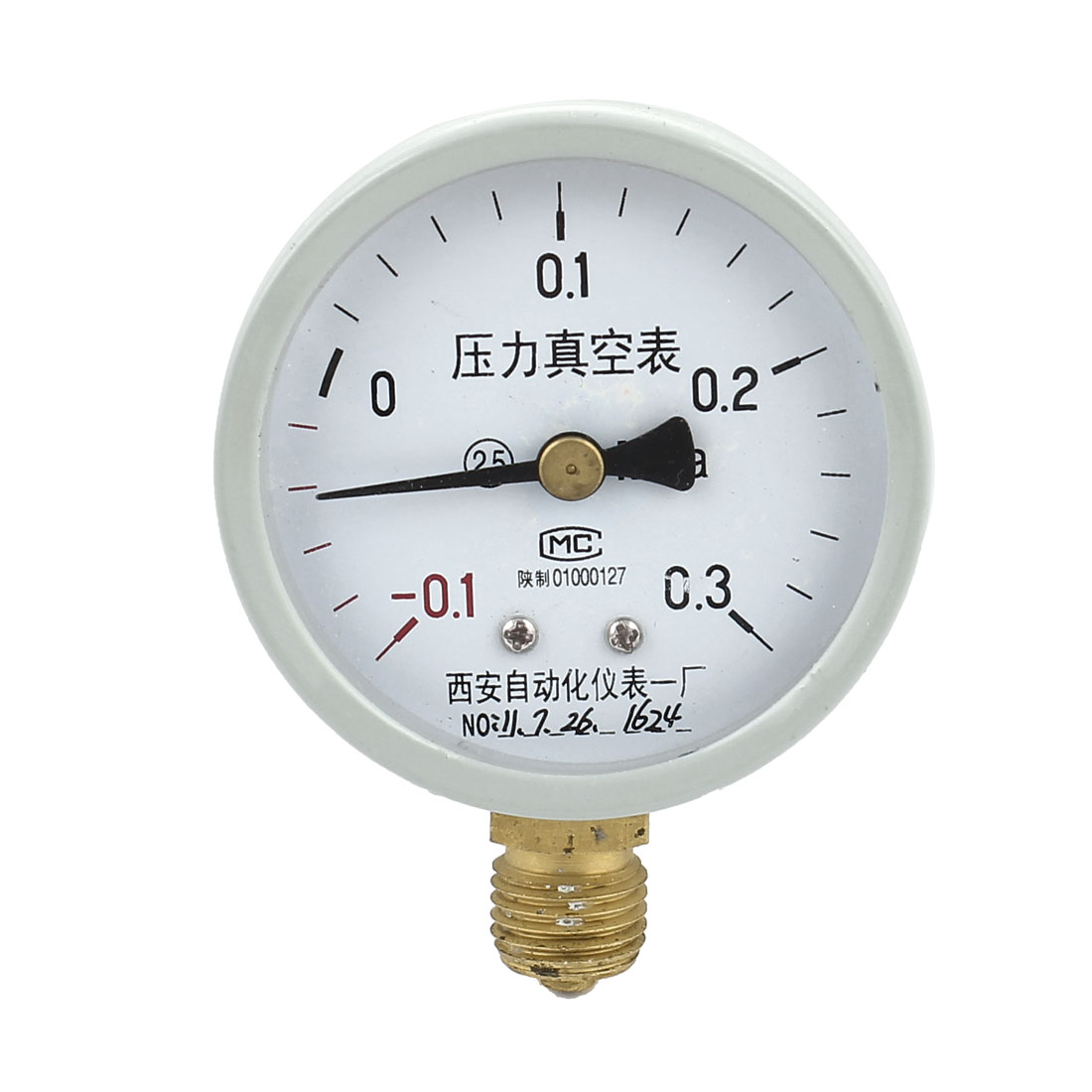 Round Dial Air Pneumatic Vacuum Pressure Meter Gauge -0.1MPa to 0.3MPa 60mm