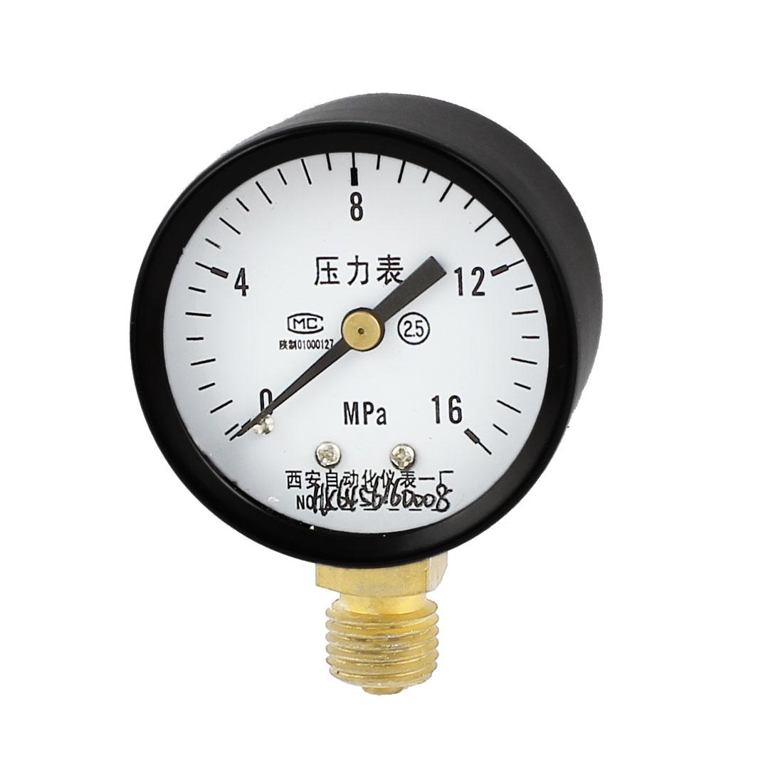 Universal 0-16MPa Compressor Air Vacuum Pressure Meter Gauge 50mm