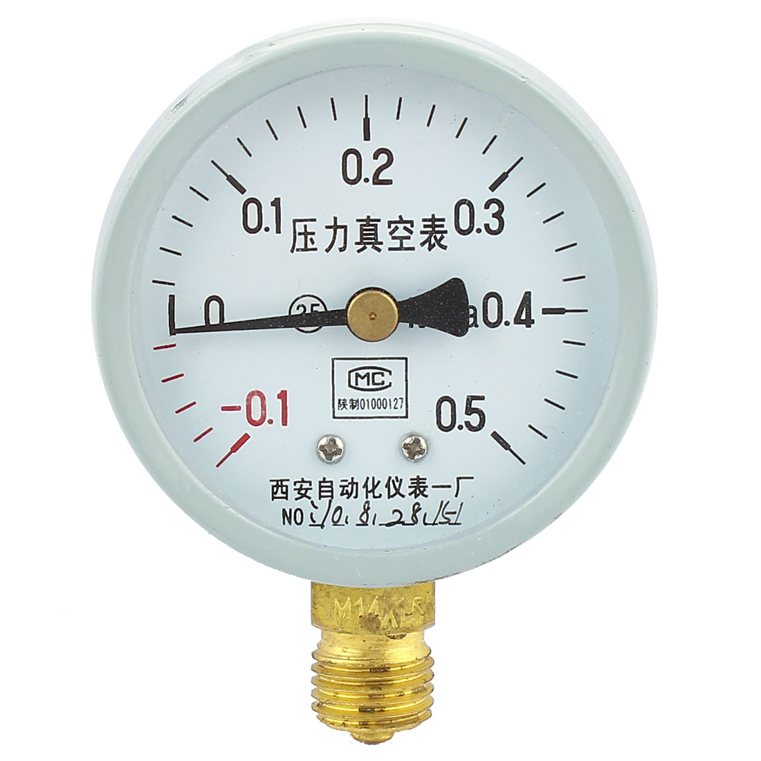 Round Dial -0.1MPa to 0.5MPa Glow Oil Gas Air Vacuum Pressure Meter Gauge 60mm