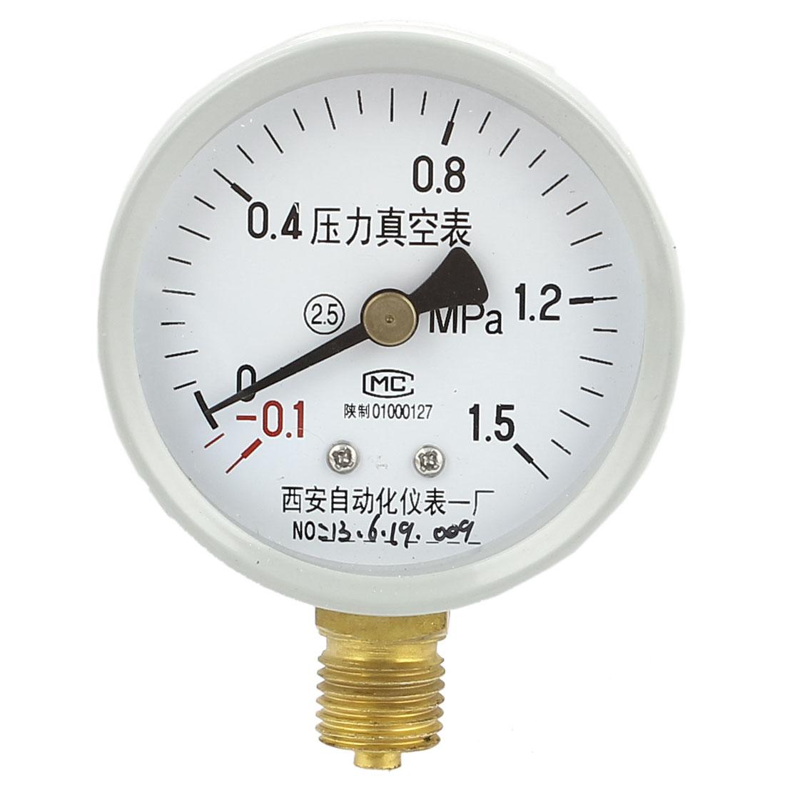 Universal -0.1MPa to 1.5MPa Glow Oil Gas Air Vacuum Pressure Meter Gauge 60mm