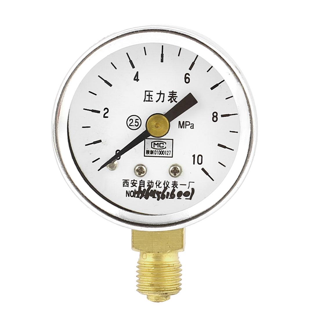 Round Dial Air Pneumatic Vacuum Pressure Meter Gauge 0-10MPa 40mm