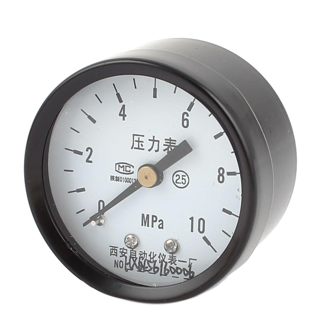 Universal 0-10MPa Compressor Air Vacuum Pressure Meter Gauge 50mm