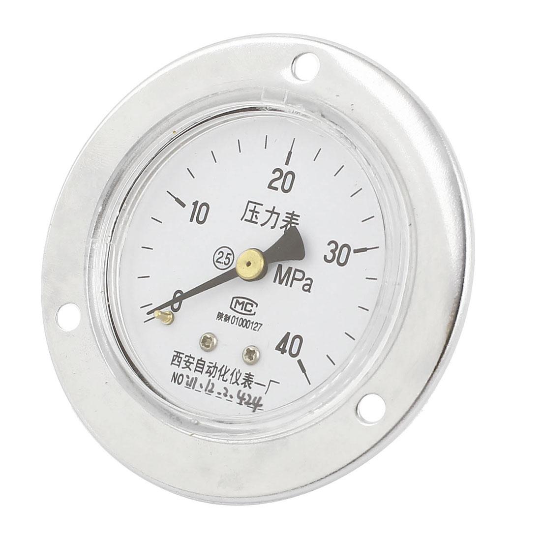 0-40MPa Round Face Mechanical Compressor Air Vacuum Pressure Meter Gauge 60mm