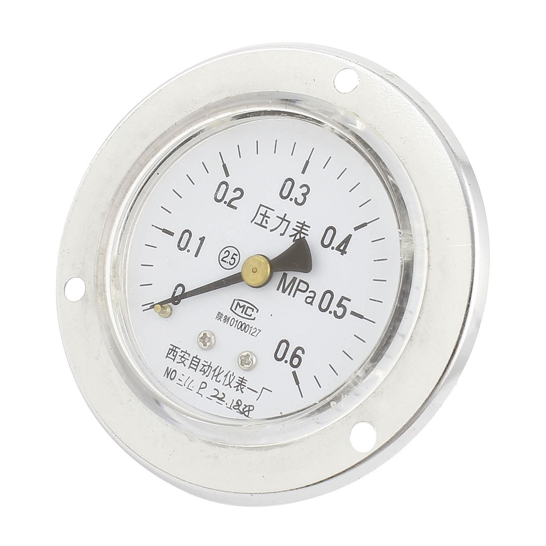 0-0.6MPa Universal Mechanical Glow Oil Gas Air Vacuum Pressure Meter Gauge 60mm