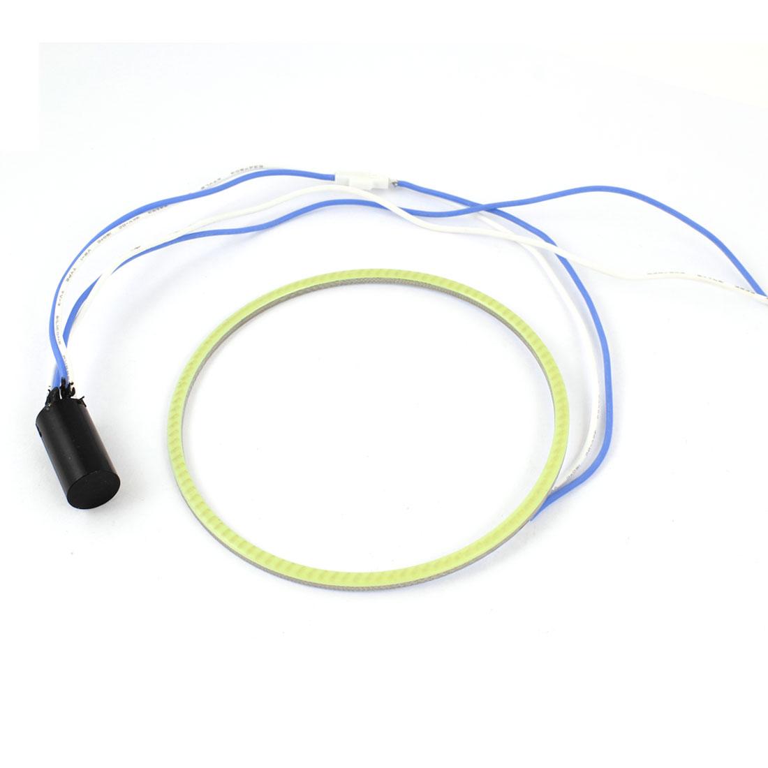 Van Car Truck 95mm Dia COB LED Angel Eyes Ring Headlight Foglamp White 12V
