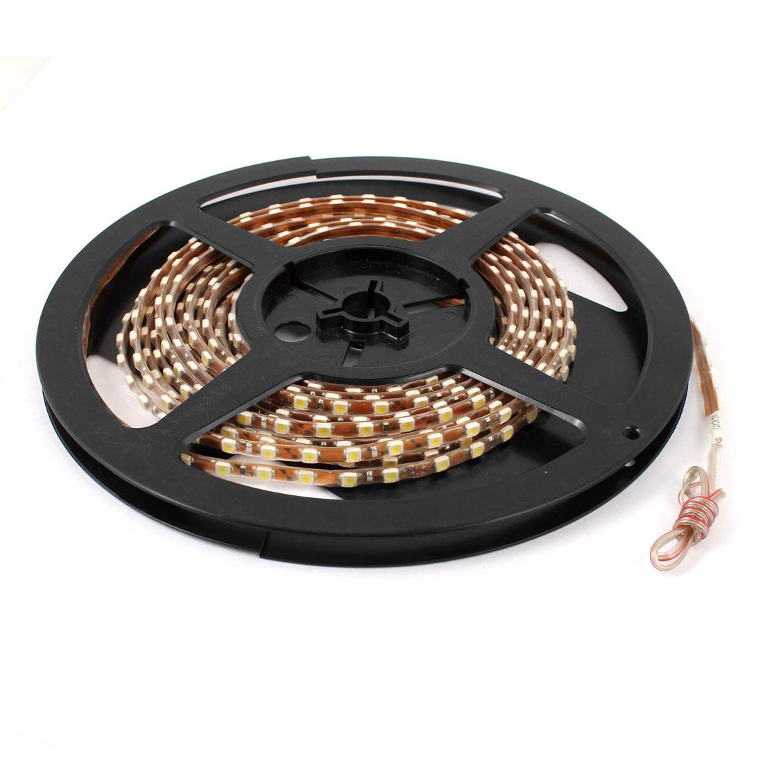 5M Length White 1210 SMD 495 LEDs Flexible Car Light Strip Bar Lamp Internal