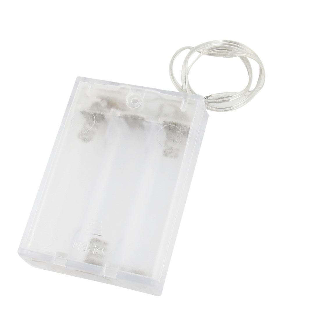 Clear Flat Tip Battery Box Storage Case Holder for 3 x AA Batteries