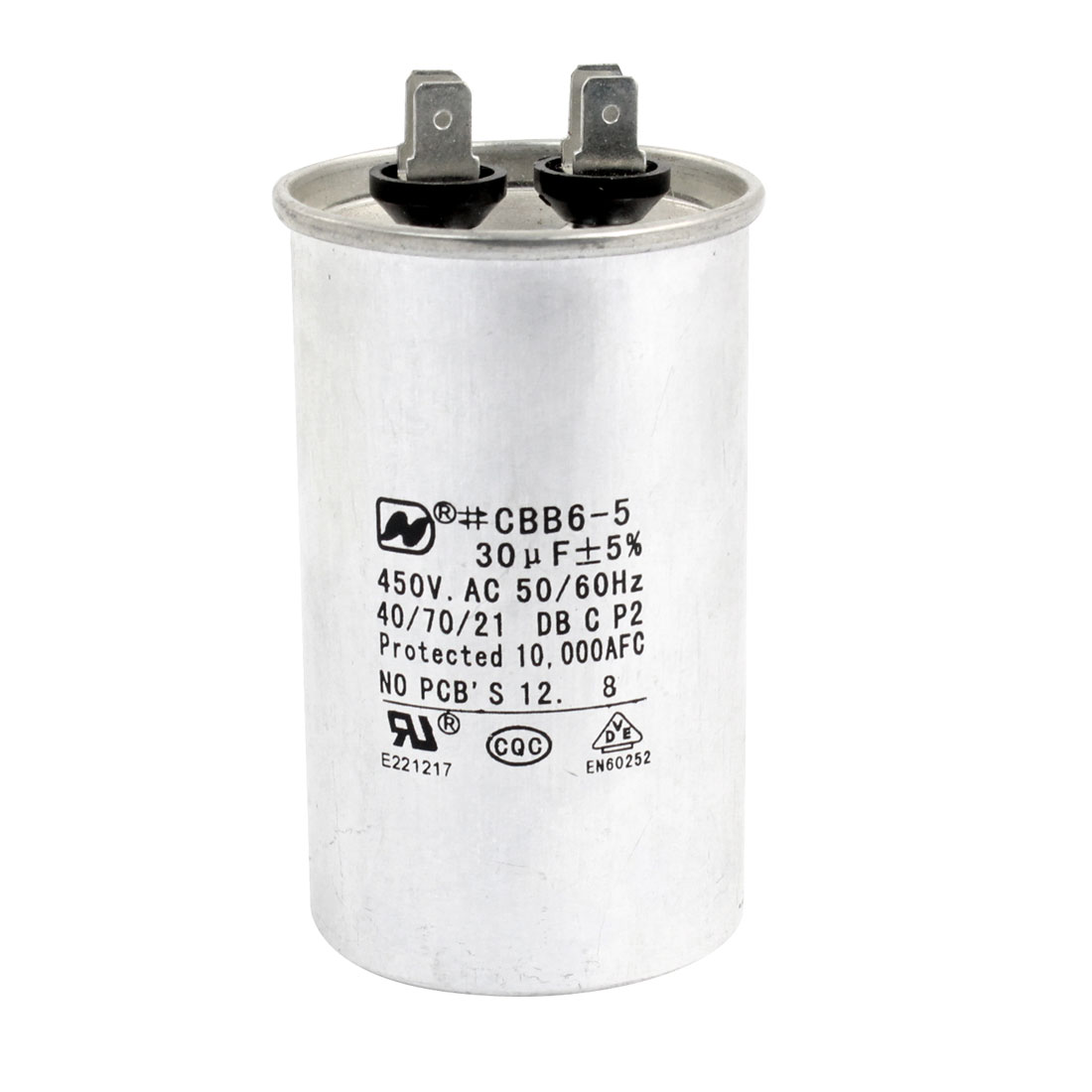 AC 450V 30uF Air Conditioner Polypropylene Film Motor Capacitor CBB65