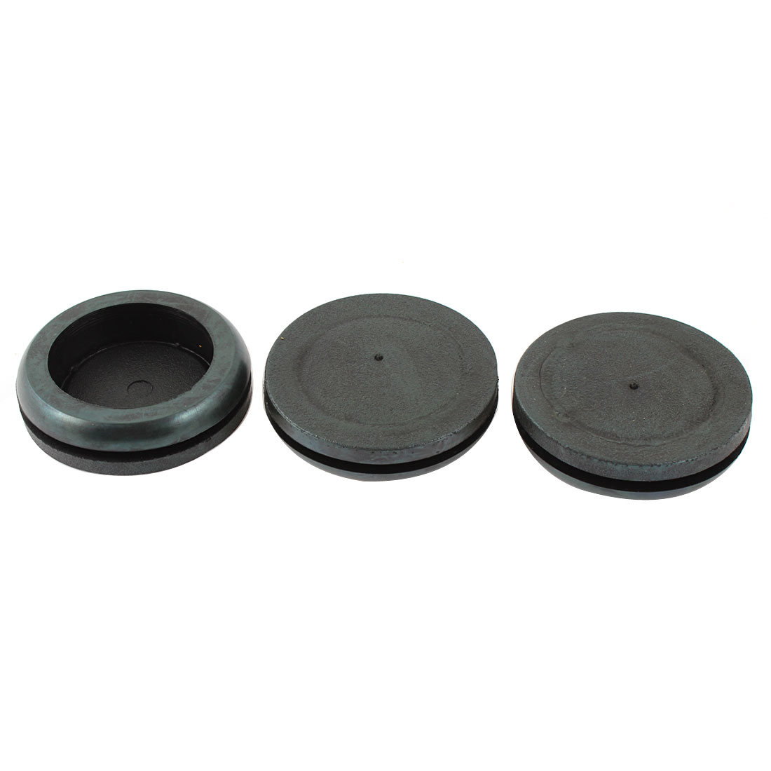 3 Pcs Black Rubber 35mm Slotting Diameter Sealed Sealing Cap for Bottle