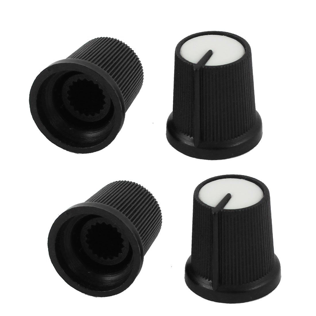4pcs Plastic 5.5mm Knurled Shaft Taper Volume Knob Cap for Potentiometer Pot