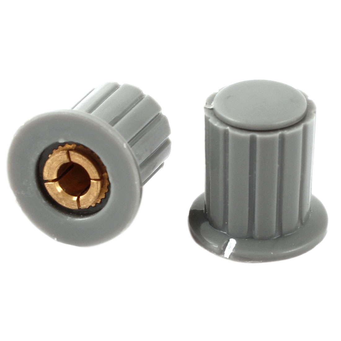 2 Pcs 16x16mm 4mm Shaft Dia Volume Control Plastic Potentiometer Knobs Caps