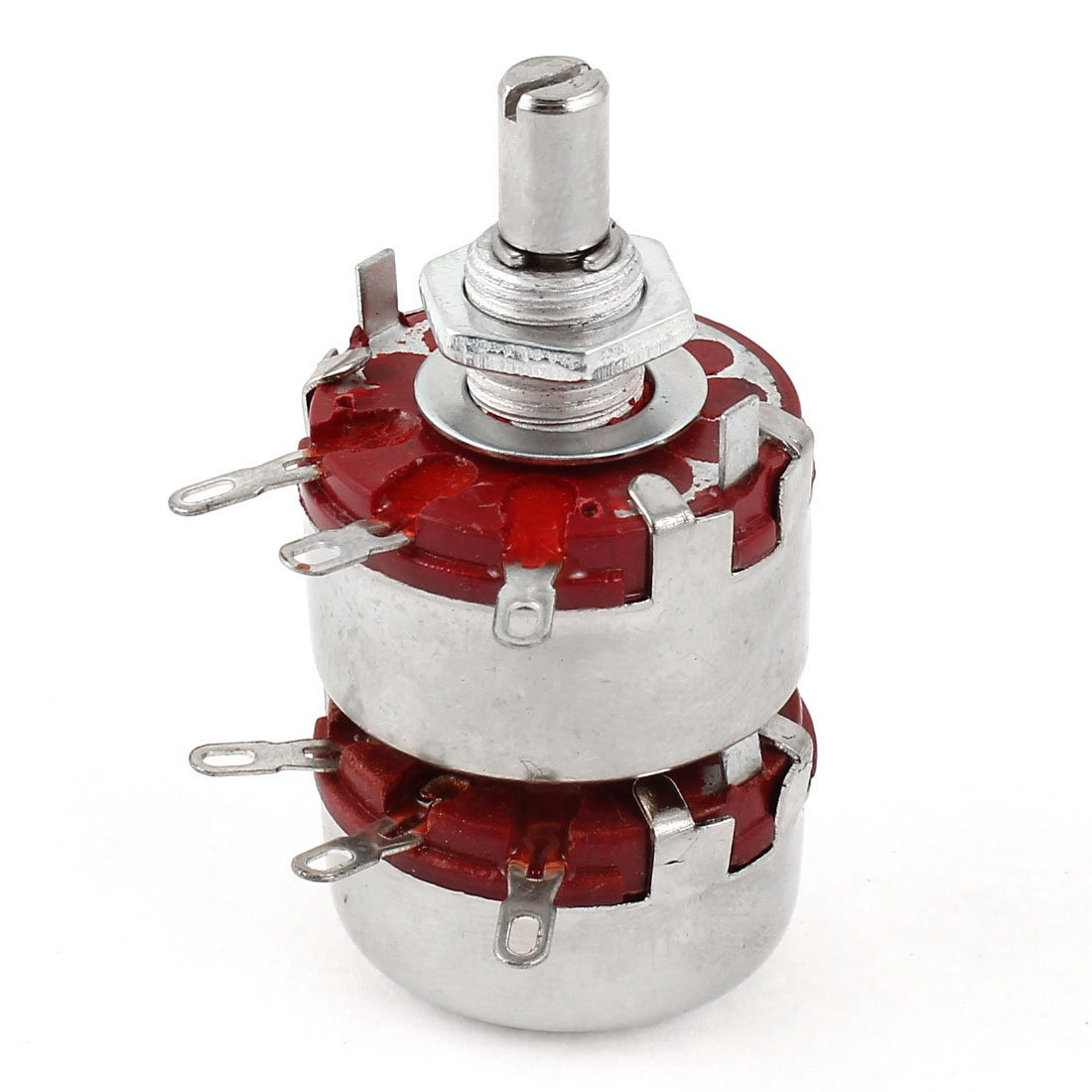 6mm Shaft Dia Dual 470K Ohm 2W 2 Gang Linear Carbon Potentiometer