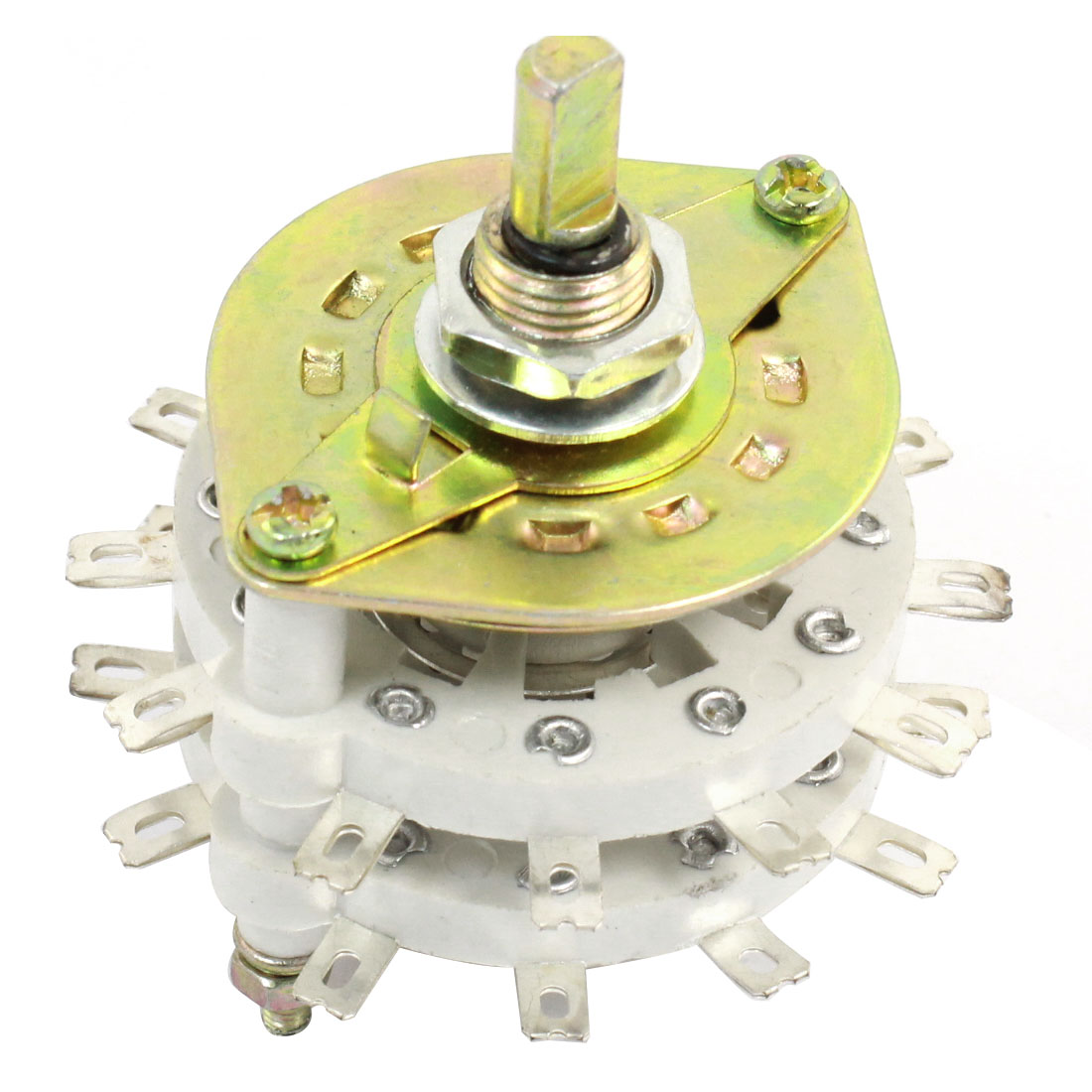 White Ceramic 2P11T 2Pole 11 Throw Band Channel Rotary Switch Selector