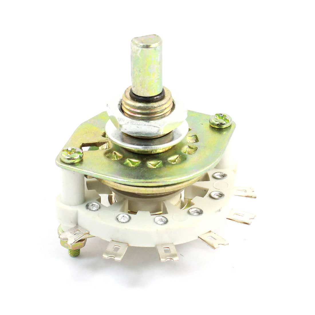 White Ceramic 1P8T 1 Pole 8 Throw Band Channel Rotary Switch Selector