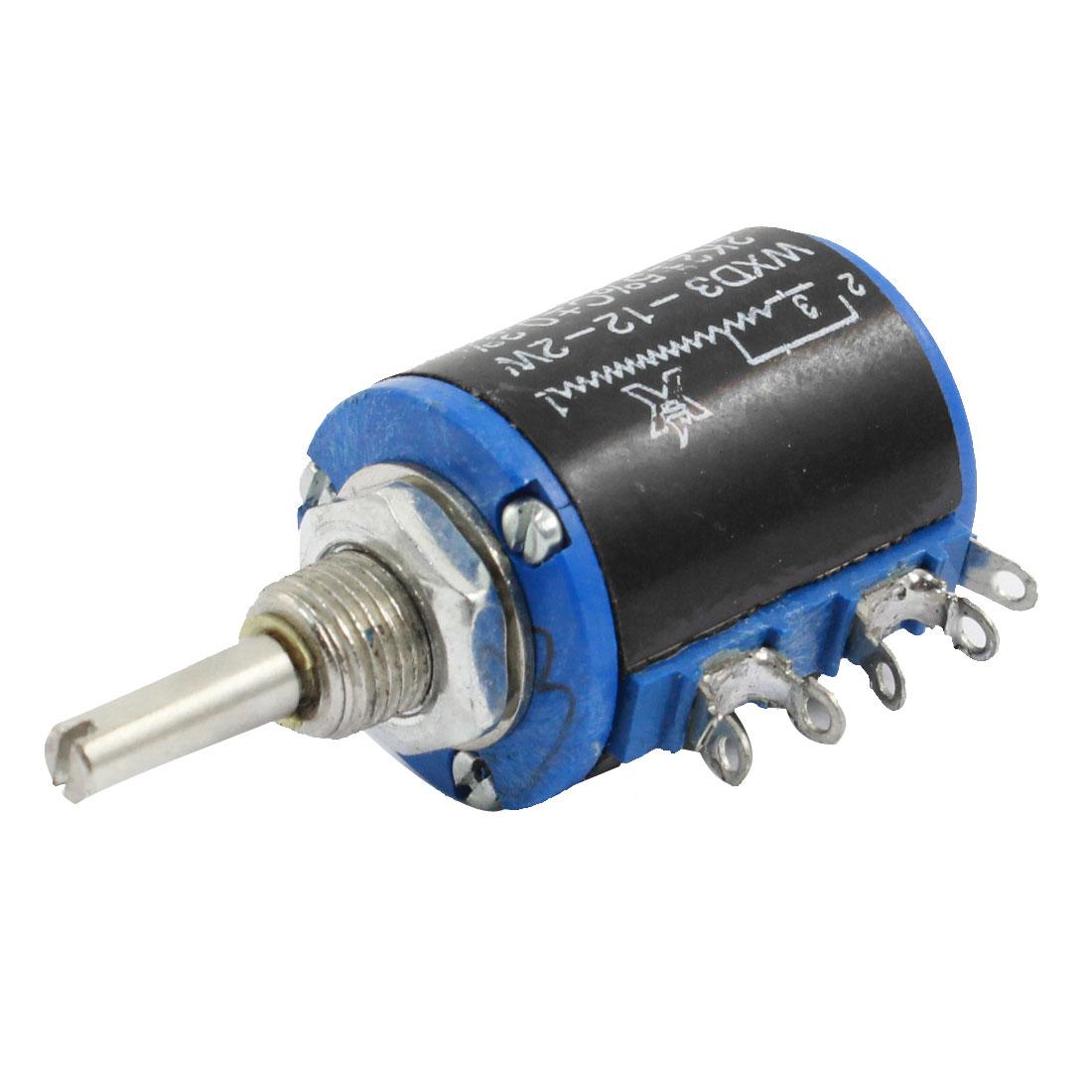 WXD3-12 2.2K Ohm 2W Rotary Wirewound Multiturn Taper Pot Potentiometer