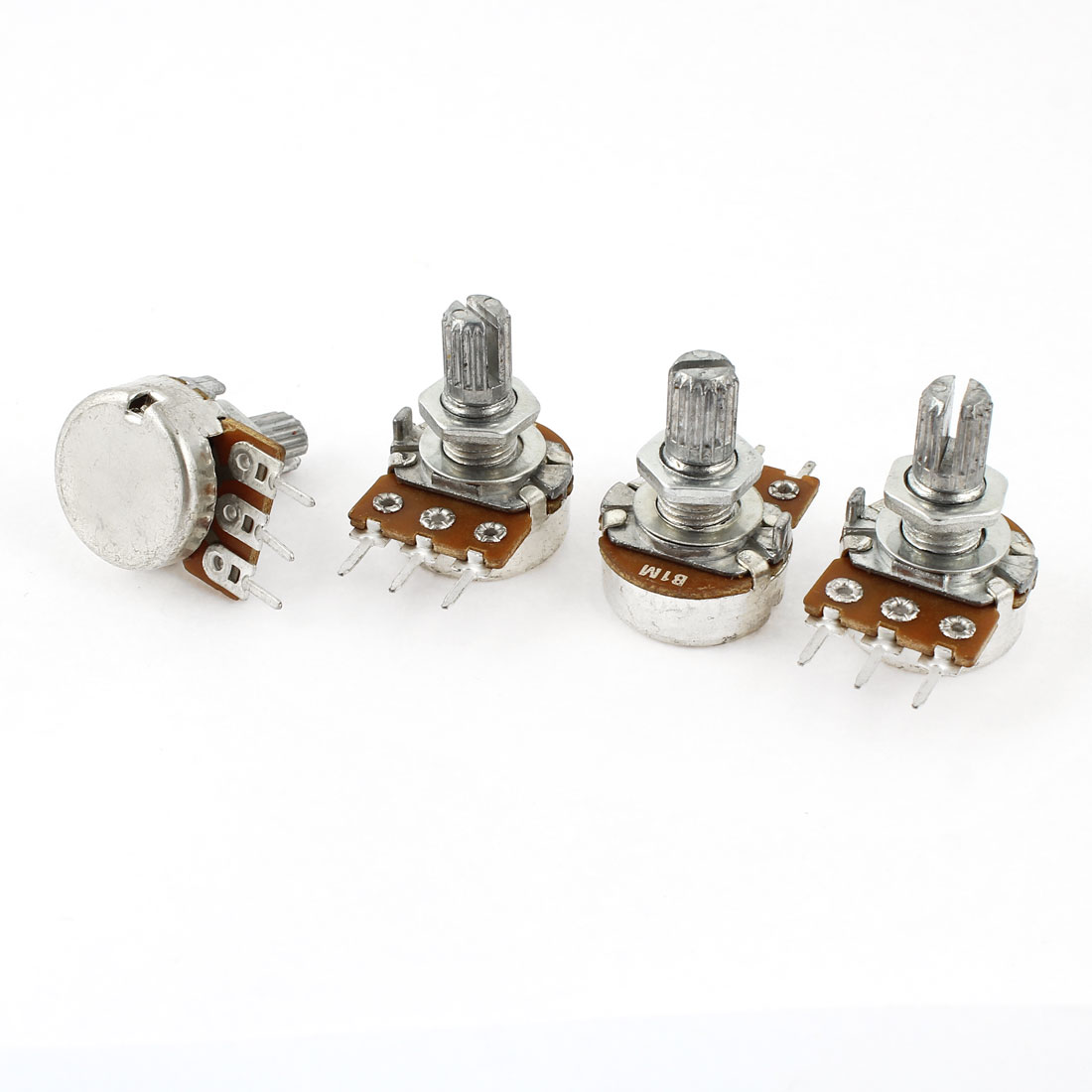 4 Pcs Single Linear Control Volume Potentiometers 1M Ohm 15mm Shaft WH148