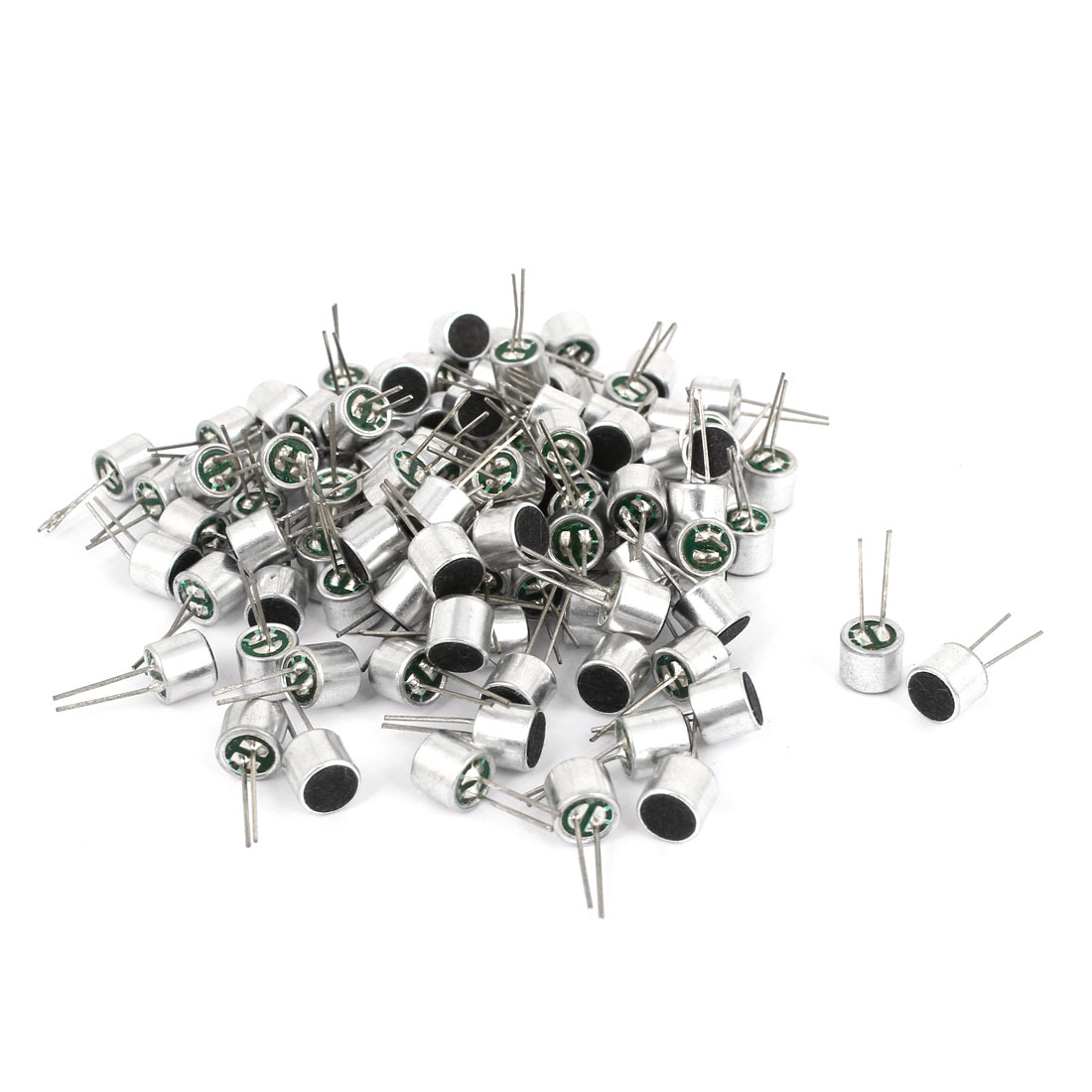 100pcs 2 Terminals Electret Condenser MIC Capsule 6mm x 5mm for PC Phone MP3 MP4