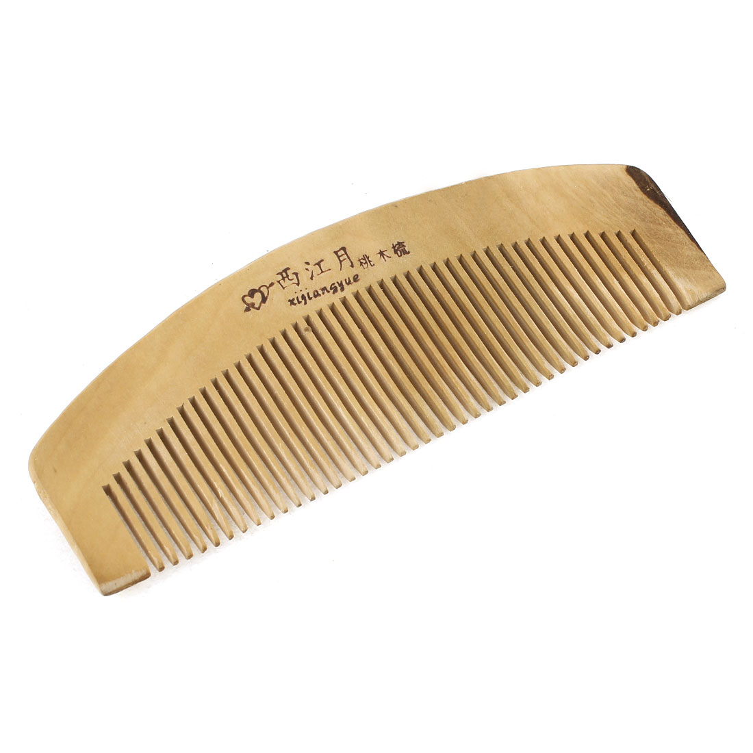 "5.7"" Length Dual Head Wooden Toothed Anti-static Hair Comb for Women"