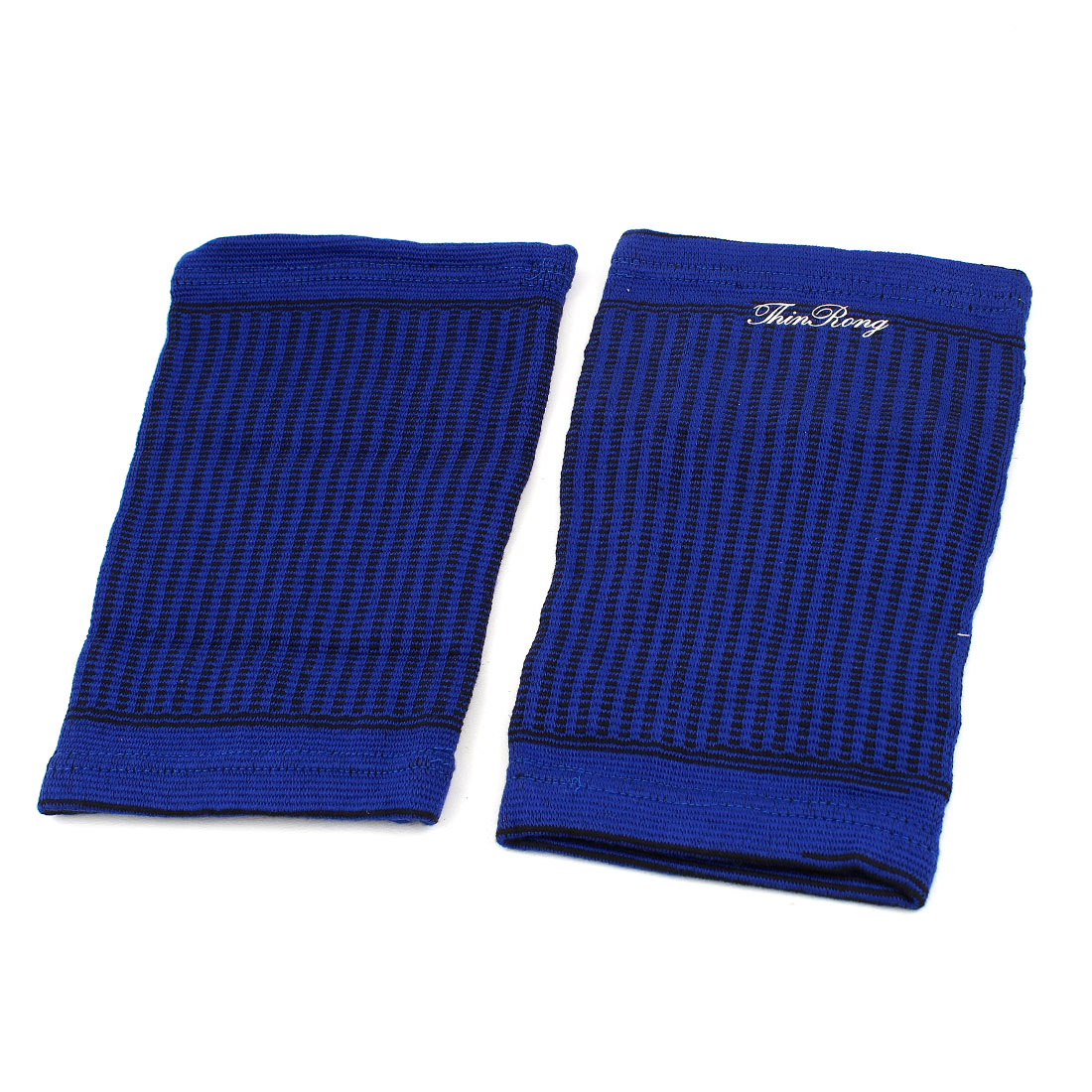 Outdoor Sports Blue Pullover Style Elastic Thigh Support Pad Brace Pair