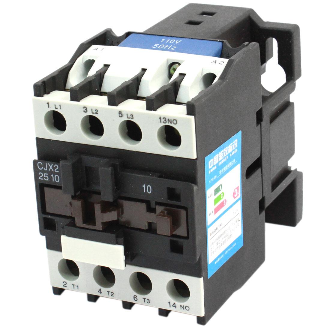 CJX2-2510 Motor Control AC Contactor 25A 3 Pole Coil 110V 50Hz