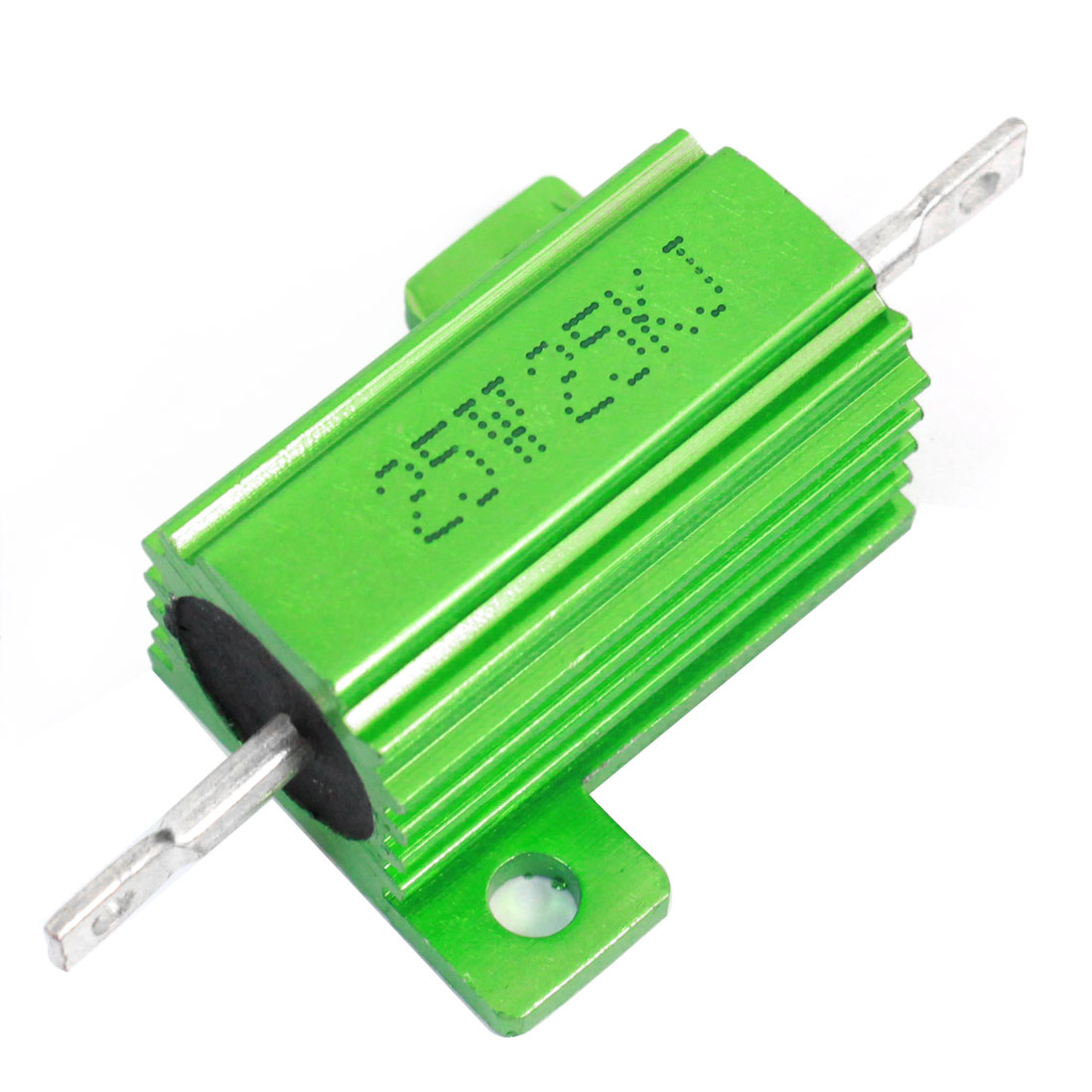 25W 25000 Ohm Axial Chassis Screw Mounted Aluminum Clad Resistor Green