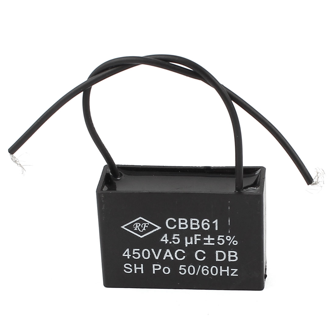 CBB61 AC 450V 4.5uF 50/60Hz SH Non Polar Fan Motor Run Capacitors