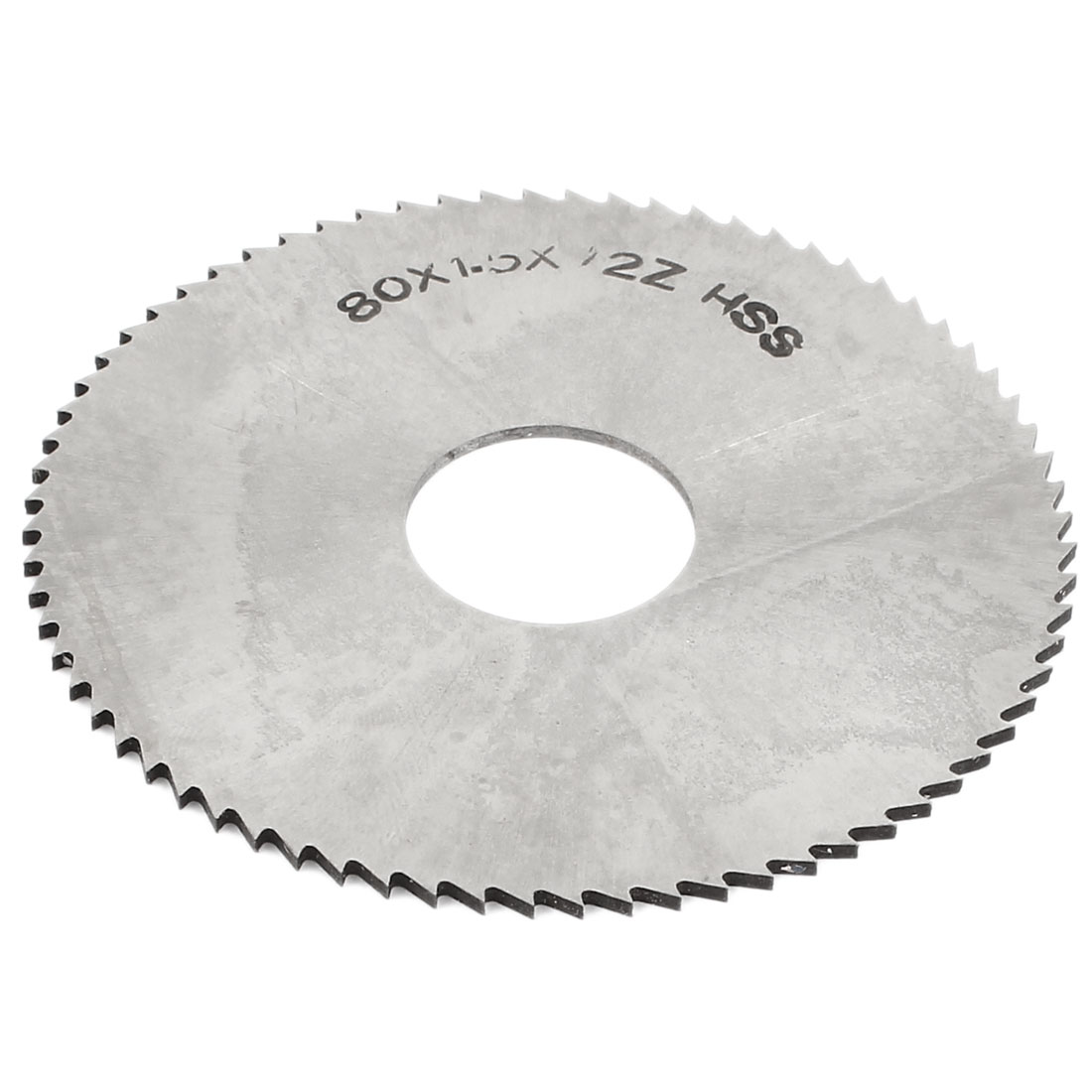 Hand Tool 72 Tooth Cutter Silver Tone HSS Slitting Saw 80mm x 22mm x 1.5mm