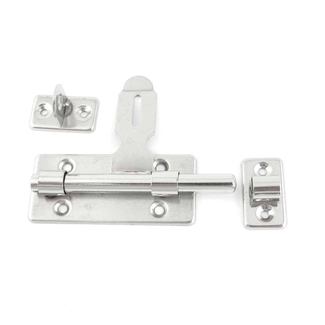 Home Office Cabinet Gate Door Latch Silver Tone Barrel Bolt 4.1""