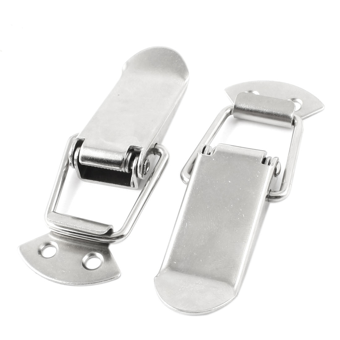 2pcs Stainless Steel Spring Loaded Chests Trunk Cases Toggle Latch Catch