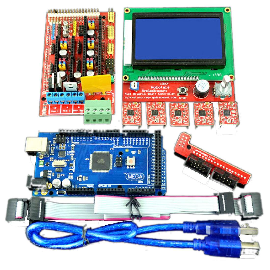 Mega2560R3 w Smart LCD2004 Controller w A4988 RAMPS 1.4 3D Printer Kit