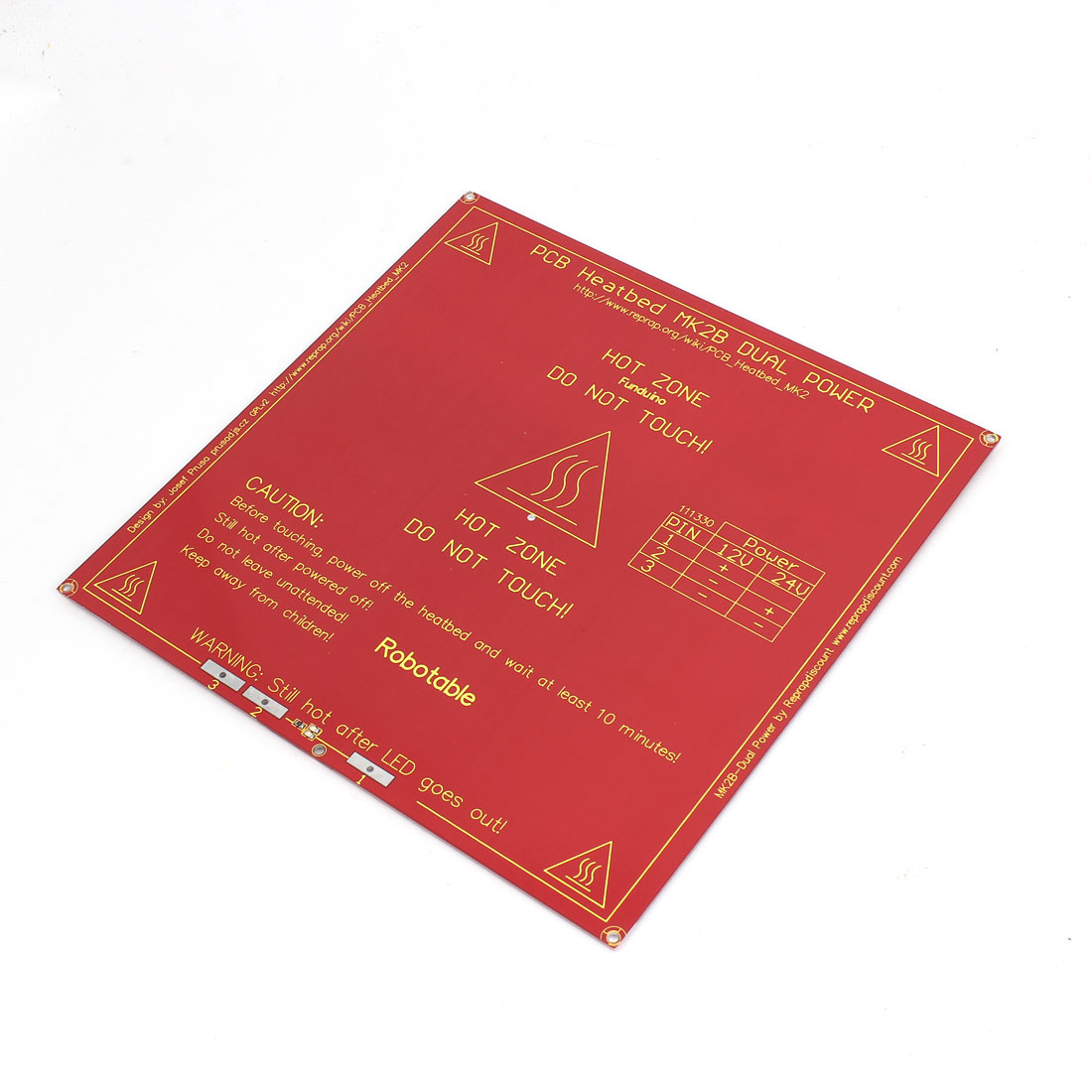 RepRap 3D Printer PCB Heatbed MK2a Heated Heat Bed Red for Prusa Mendel