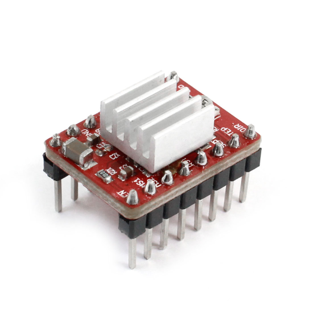 A4988 8 Pins Dual Row Stepper Motor Driver Module with Heatsink for 3D Printer