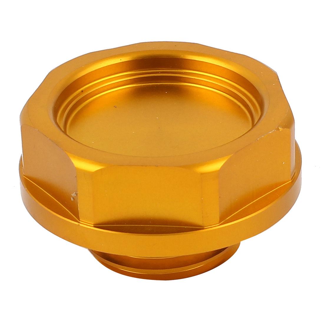 Vehicle Car Orange Metal Engine Oil Filler Fuel Cover Cap 56mm Dia for Honda