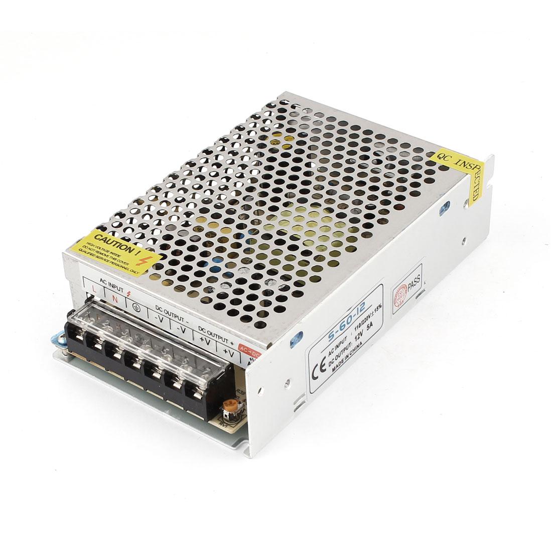 AC 110V/220V DC 12V 5A Switch Power Supply Converter for LED Strip Light