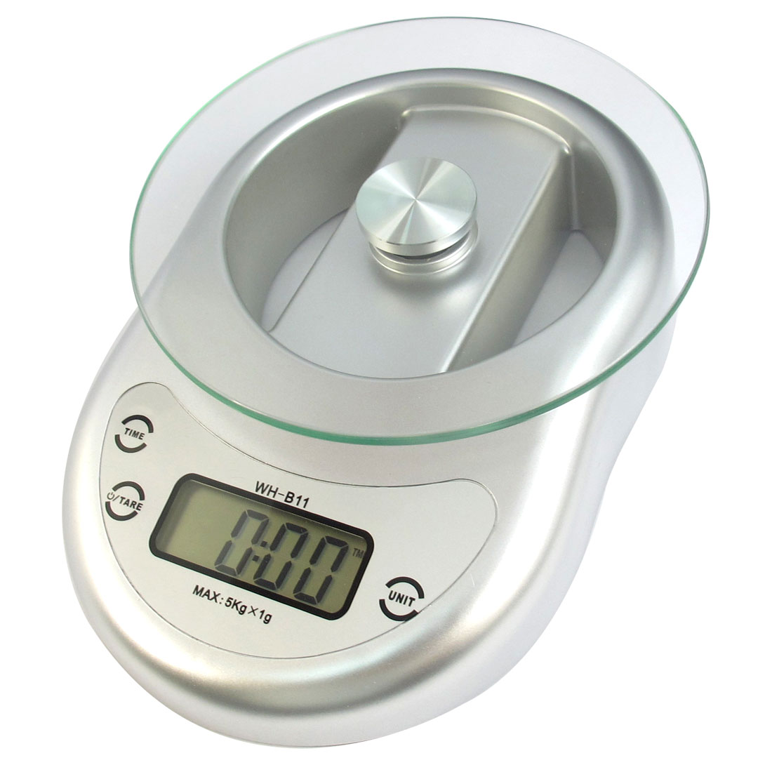 5Kg x 1g Kitchen Digital Electronic Weight Scale Kg oz lb g Silver Tone