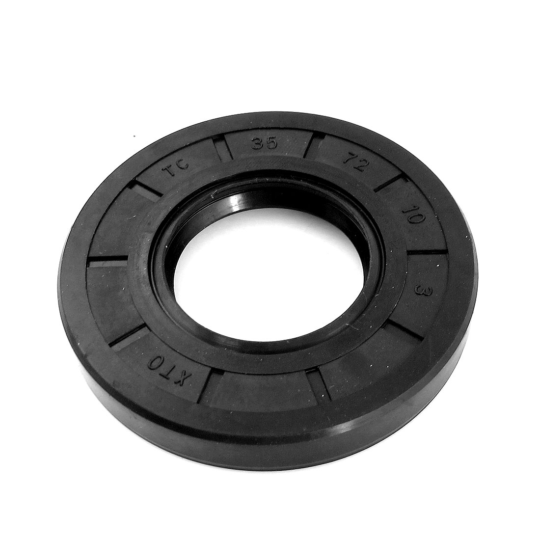 Black 72 x 35 x 10mm Rubber Oil Seal Sealing Ring Gasket Washer