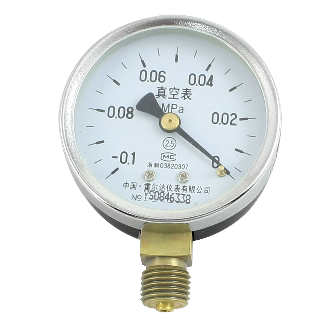 Water Temp Oil Air Pneumatic Vacuum Pressure Meter Gauge -0.1MPa to 0MPa 60mm