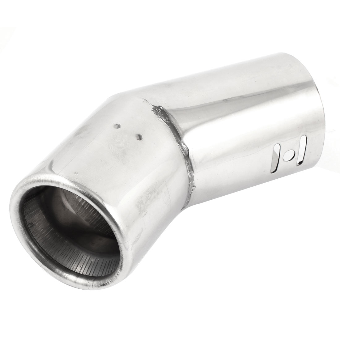 Auto Car Rolled Edge Curving Design 60mm Inlet Metal Muffler Tail Tip